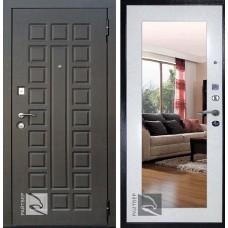 Входная дверь  Кондор Райтвер Р-Сенат Беленый дуб с зеркалом