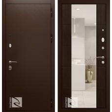 Входная дверь  Кондор Райтвер Президент Меланж темный с зеркалом