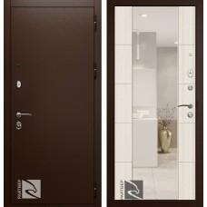 Входная дверь  Кондор Райтвер Президент Меланж светлый с зеркалом