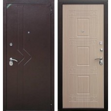 Входная дверь  Зетта Комфорт 2 Д1 Бастион Венге белёный