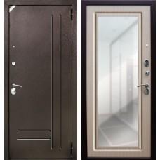 Входная дверь  Зетта Neo Венге светлый с зеркалом