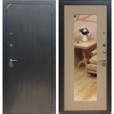 Входная дверь  Зетта Комфорт 2 Д1 Сохо Венге беленый с зеркалом