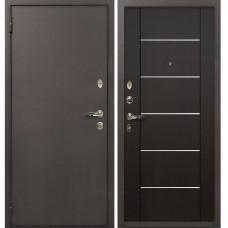 Входная дверь  Лекс 1А медный антик №24 Венге с молдингом