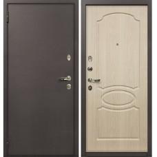 Входная дверь  Лекс 1А медный антик №14 Белёный дуб