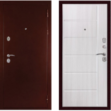 Входная дверь  Дива С-503 Антик медный Сандал белый