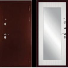 Входная дверь  Дива С-503 Антик медный Сандал белый с зеркалом