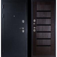 Входная дверь  Дива МД-05 Серебро Орех темный Индиго