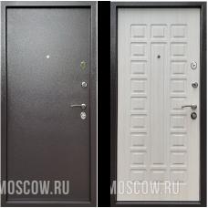 Входная дверь  Бульдорс Econom Букле шоколад Ларче Бьянко Е-110