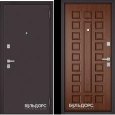 Входная дверь  Бульдорс Mass-70 Букле шоколад Дуб золотой М-110