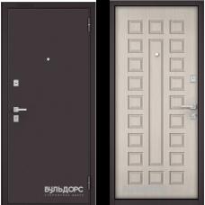 Входная дверь  Бульдорс Mass-70 Букле шоколад Ларче бьянко М-110