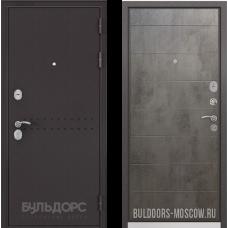Входная дверь  Бульдорс Mass-90 Букле шоколад R-4 Бетон темный 9S-135