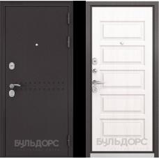 Входная дверь  Бульдорс Mass-90 Букле шоколад R-4 Дуб светлый матовый 9S-108