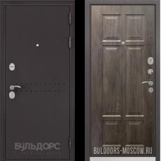 Входная дверь  Бульдорс Mass-90 Букле шоколад R-4 Дуб шале серебро 9S-109