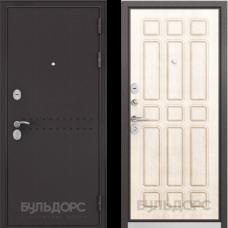Входная дверь  Бульдорс Mass-90 Букле шоколад R-4 Ларче бьянко 9S-111