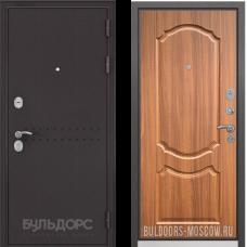 Входная дверь  Бульдорс Mass-90 Букле шоколад R-4 Орех лесной 9SD-4