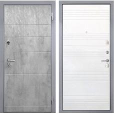Входная дверь  Интекрон Спарта Грей ФЛ-316 (Бетон темный / Ясень белый)