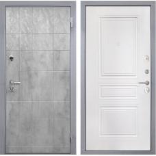 Входная дверь  Интекрон Спарта Грей ФЛ-243-М (Бетон темный / Белый матовый)