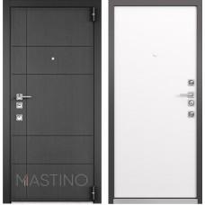 Входная дверь  Mastino Forte (Синхропоры графит MS-114 / Реалвуд молочный MS-100)
