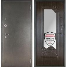 Входная дверь  с зеркалом Аргус ДА-6 (Серебро антик / Венге)